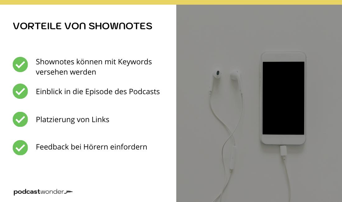 Vorteile von Podcast Shownotes
