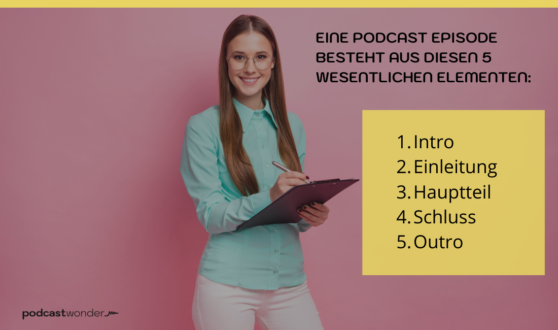 Der Hauptteil einer Podcastfolge