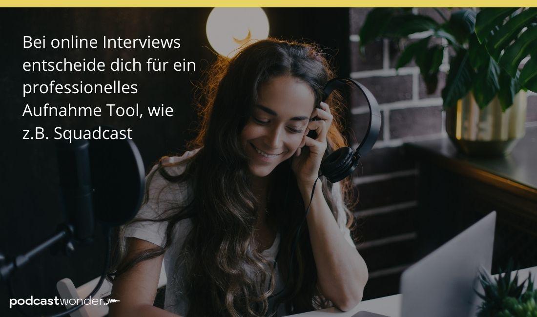 Podcast aufnehmen - Tools