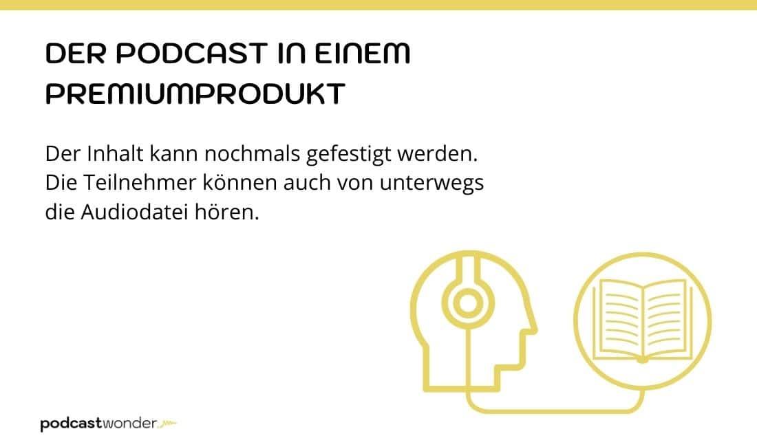 Podcasts in deinen Premiumangeboten